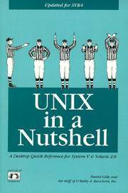 UNIX in a Nutshell: System V Edition: A Desktop Quick Reference for System V Release 4 and...