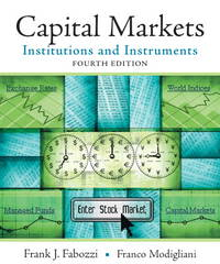 Capital Markets Institutions and Instruments