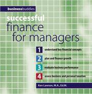 Successful Finance for Managers