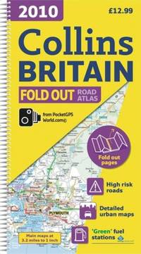 2010 Collins Fold Out Road Atlas Britain (International Road Atlases)