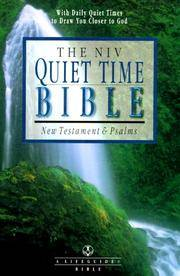 The NIV Quiet Time Bible: New Testament and Psalms