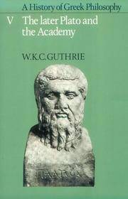 image of A History of Greek Philosophy: Volume 5 The Later Plato and the Academy