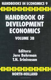 Handbook of Development Economics, Vol. 3B