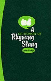 A Dictionary of Rhyming Slang by J. Franklyn - Paperback - from Cold Books and Biblio.com