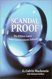 Scandal Proof: Do Ethics Laws Make Government Ethical