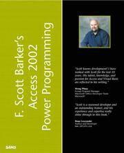 F. Scott Barker's Microsoft(R) Access 2002 Power Programming