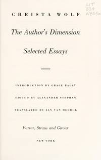 THE AUTHOR'S DIMENSION: Selected Essays