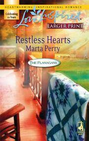 image of Restless Hearts (The Flanagans, Book 6) (Larger Print Love Inspired #388)