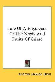 Tale Of a Physician or The Seeds and Fruits Of Crime