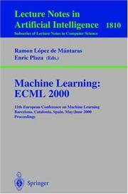 MACHINE LEARNING: ECML 2000