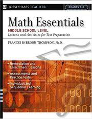 Math Essentials, Middle School Level: Lessons and Activities for Test Preparation (J-B Ed: Test Prep