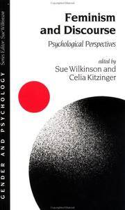 Feminism and Discourse: Psychological Perspectives by  Celia (eds)  Sue; Kitzinger - Paperback - 1996 - from Defunct Books and Biblio.com