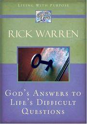 God\'s Answers To Life\'s Difficult Questions