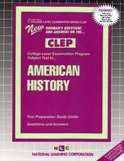 AMERICAN HISTORY (College Level Examination Series) (Passbooks) (COLLEGE LEVEL EXAMINATION SERIES...