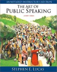 image of The Art of Public Speaking - 2000 publication