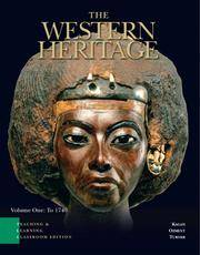 image of The Western Heritage: Teaching and Learning Classroom Edition, Volume 1 (Chapters 1-14) (5th Edition)