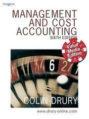 MANAGEMENT AND COST ACCOUNTING 6E VME by THOMSON LEARNING - Paperback - 2017 - from D.K. Printworld (P) Ltd. and Biblio.com