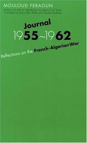Journal, 1955-1962: Reflections on the French-Algerian War