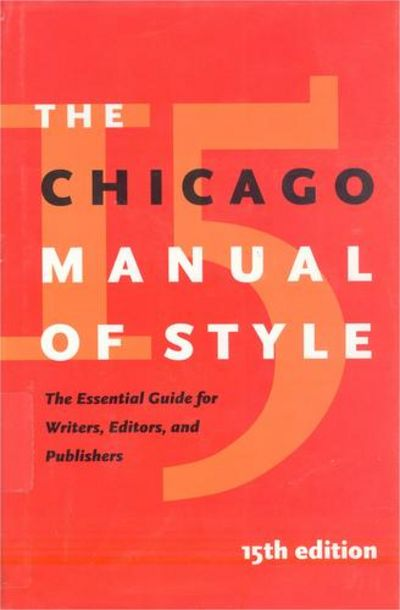 chicago manual of style book The billboard book of top 40 hits  chapter or article by one author from book  by another author or editor tillich  the chicago manual of style (15th ed).