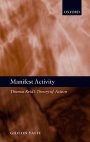 Manifest Activity: Thomas Reid's Theory of Action