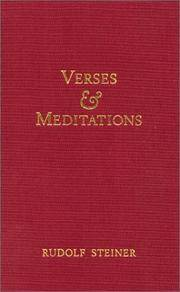 image of Verses and Meditations