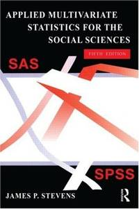 image of Applied Multivariate Statistics for the Social Sciences.