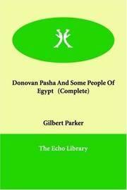 Donovan Pasha, and Some People Of Egypt