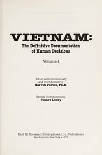 image of Vietnam:  The Definitive Documentation of Human Decisions,Vol 1