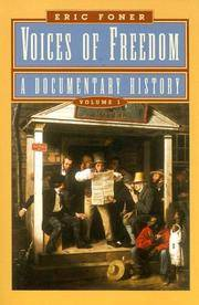 Voices of freedom by foner eric image of voices of freedom a documentary history volume 1 fandeluxe Image collections