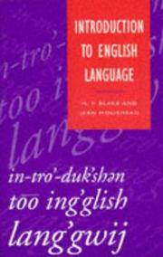 Introduction to English Language (Studies in English Language) by  N.F Blake - Paperback - 1993-07-28 - from Wyemart Limited (SKU: mon0000182580)