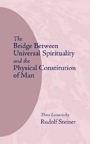 image of The Bridge Between Universal Spirituality and the Physical Constitution of Man: (cw 202)