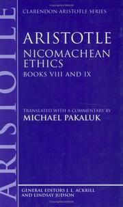 image of Aristotle: Nicomachean Ethics, Books VIII and IX (Hardback)