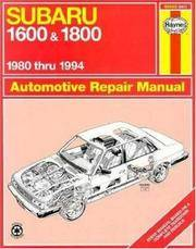 Subaru 1600 & 1800  '80'94 (Haynes Repair Manual)