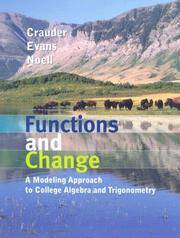 image of Functions and Change: A Modeling Approach to College Algebra and Trigonometry
