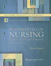 Procedure Checklists to Accompany Craven and Hirnle's Fundamentals of Nursing: Human Health and Function (Nursing Fundamentals) by  Elissa Swisher Sauer  Constance J. Hirnle - Paperback - Fifth - 2006-01-31 - from Ergodebooks (SKU: DADAX0781786045)