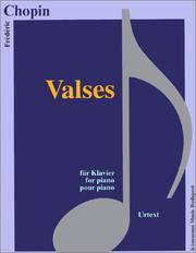Valses fur Klavier (Waltzes for Piano)