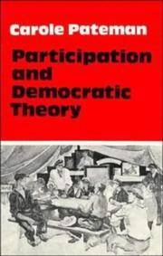 image of Participation and Democratic Theory