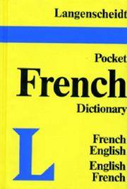 LANGENSCHEIDT'S POCKET Pocket FRENCH DICTIONARY : French-English, English-French (Vinyl Edition)