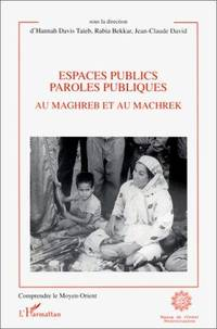 Espaces publics, paroles publiques au Maghreb et au Machrek (Comprendre le Moyen-Orient) (French...