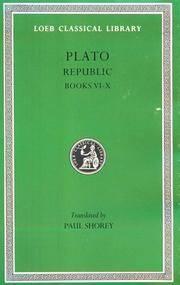 image of Plato: The Republic, Books 6-10 (Loeb Classical Library, No. 276) (Vol 6, Bks.VI-X) (Greek and English Edition)