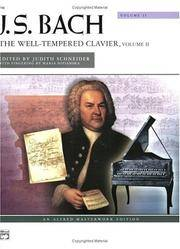 image of J. S. Bach: The Well-Tempered Clavier: Alfred Masterwork Edition: Vol 2