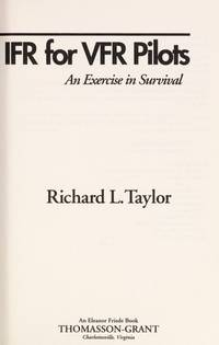 image of Ifr for Vfr Pilots: An Exercise in Survival (Thomasson-Grant Aviation Library)