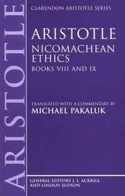 image of Aristotle: Nicomachean Ethics, Books VIII and IX (Paperback)