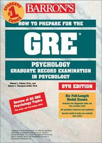 How to Prepare for the GRE in Psychology (Barron's How to Prepare for the Gre Psychology Graduate...