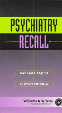 Psychiatry Recall (Recall Series)