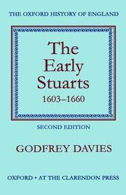 The Early Stuarts, 1603-1660 (Oxford History of England) by  Godfrey Davies - Hardcover - 1959-08-07 - from Redux Books and Biblio.com