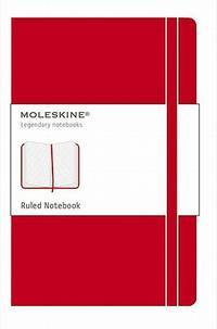 Moleskine Classic Notebook, Large, Ruled, Scarlet Red, Hard Cover (5' x 8.25') by L - Hardcover - from Magers and Quinn Booksellers and Biblio.com
