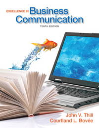 image of Excellence in Business Communication (10th Edition)