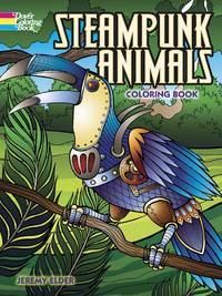 STEAMPUNK ANIMALS COLORING BOOK (O)