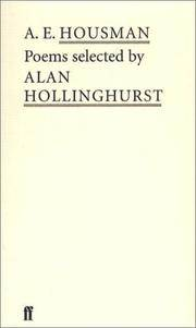 A. E. Housman: Selected Poems by ed. Alan Hollinghurst - Paperback - from Powell's Bookstores Chicago and Biblio.com